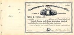 Cambria County Agricultural Association - Carrolltown, Pennsylvania 1887