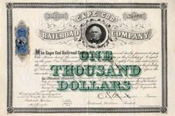 Cape Cod Railroad Company - Massachusetts 1871