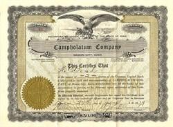 Campholatum Company- Mason City, Iowa 1919