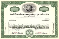 California Computer Products Incorporated ( CalComp )  - California 1958