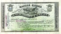 Castle Creek Gold Mining Company - Territory of Idaho 1888