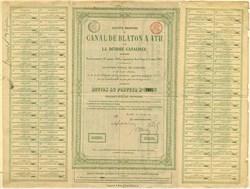 Canal de Blaton a Ath & de la Dendre canalisée -  Belgium 1864