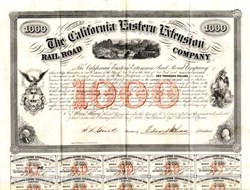 California Eastern Extension Railroad Company (Early California Railroad Bond)  - 1859