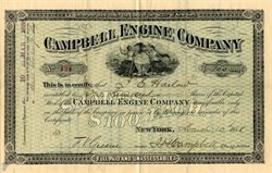 Campbell Engine Company (Campbell Ammonia Engine ) - New York 1888