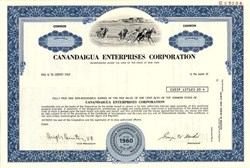 Canandaigua Enterprises Corporation (Now Finger Lakes Gaming & Racetrack) - New York 1982