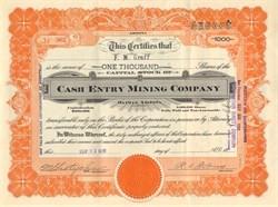 Cash Entry Mining Company - Mohave County, Oatman, Arizona 1916