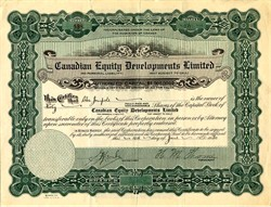 Canadian Equity Development Limited - Canada 1930