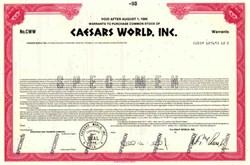 Caesars World, Inc.