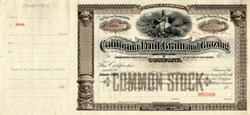 California Fruit, Grain and Grazing Company 1890's  - New Jersey