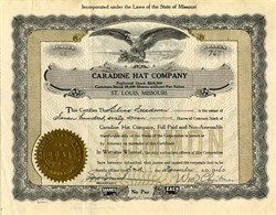 Caradine Hat Company (First Maritz national sales incentive prize book)  - Missouri 1940