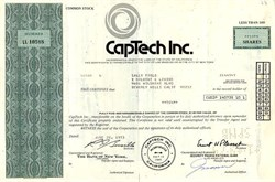 CapTech Inc. (Issued to and signed by Academy Award actor Sally Field)  - California 1973