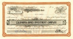 California Jones Investment Company - San Francisco, California 1926