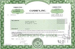 Candie's, Inc. - Delaware 2003