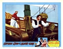 Captain Kidd and the Slave Girl Lobby Card Starring Tony Dexter and Eva Gabor - 1954