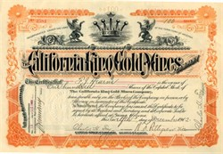 California King Gold Mines -  Imperial. Picacho. California 1903