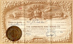 Carbonate King Mining Co. - Park County, Guffey, Colorado - 1910