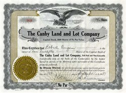 Canby Land and Lot Company - Canby, Minnesota 1937