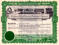 California-Utah Land and Petroleum Company issued just after crash on November 1, 1929