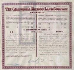 California Mexico Land Company 1888