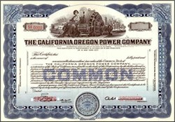 California Oregon Power Company (Early Pacific Power and Light - PacificCorp Companies)