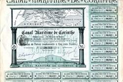 Canal Maritime De Corinthe - 1888