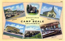 Camp Beale California Postcard