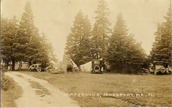 Photo Postcard of Campground in Jonesport, Maine 1926