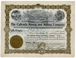 Calivada Mining and Milling Company - Arizona 1905