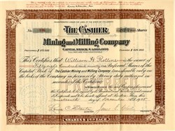 Cashier Mining and Milling Company - Colorado 1905