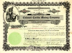 Calumet - Corbin Mining Co. Company - Arizona 1911
