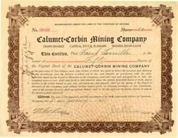 Calumet - Corbin Mining Company - Laurium, Michigan 1910