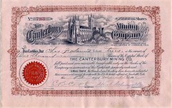 Canterbury Mining Co. (Canterbury Cathedral Vignette)  - Leadville Colorado 1902