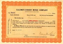Calumet-Corbin Mines Company - Maine 1916