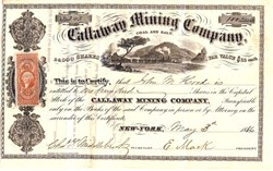Callaway Mining Company - Incorporated in New York, Properties in Callaway County, Missouri - 1866