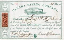 Canada Mining Company - New York 1869