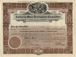 California Mines Development Corporation - Nevada 1918