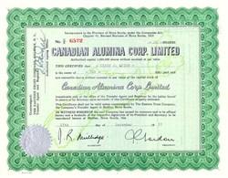 Canadian Alumina Stock - Nova Scotia Underprint