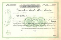 Canadian Brake Shoe Limited 1910