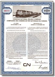Canadian National Railway Corp $1000 Bond
