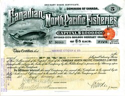 Canadian North Pacific Fisheries (Vignette of Whale) - Canada 1912