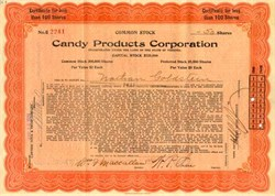 Candy Products Corporation - 1924