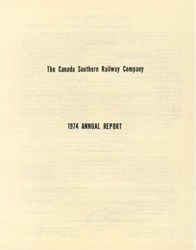 Canada Southern Railway Company 1974 - Annual Report