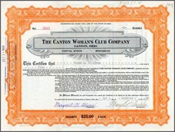 Canton Woman's Club Company 1920 - Ohio