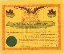 Califill Oil Company - California 1923