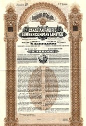 Canadian Pacific Lumber Company, Limited - British Columbia, Canada 1911