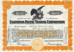 California Pacific Trading Corporation - San Francisco, California -  1936