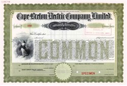 Cape Breton Electric Company - Nova Scotia 1910