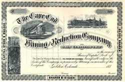 Cape Cod Mining and Reduction Company 188X - Golden, Colorado