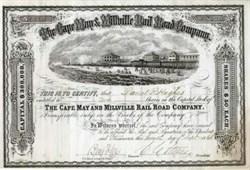 Cape May & Millville Rail Road Company 1871