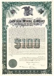 Capuzaya Mining Company 1909 - Republic of Mexico Gold Bond